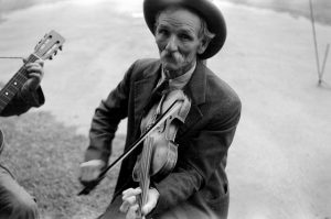 Shahn, Ben, photographer. Fiddlin' Bill Hensley, mountain fiddlerAsheville, North Carolina. 1937. Image. Retrieved from the Library of Congress.
