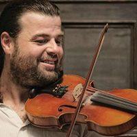 Dan MacDonald playing the fiddle