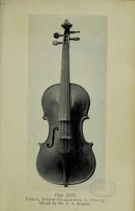 Picture of a violin made by Joseph Guanerius 1698-1744