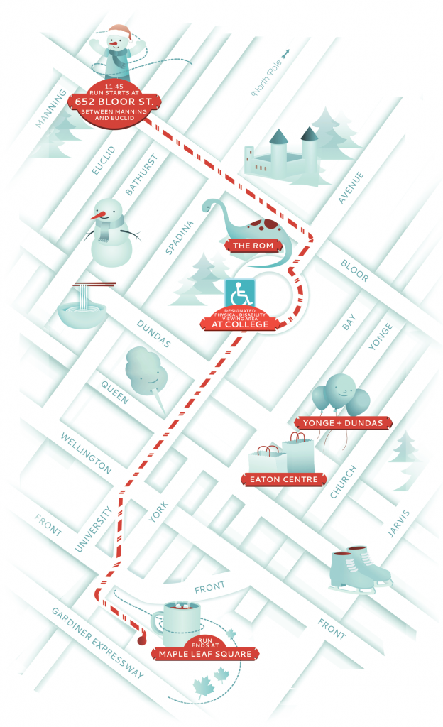 Santa Claus parade route: Bloor to Christie is where it may conflict with our session,