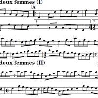 Sheet music for L'homme à deux femmes