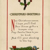 A digitised Christmas card from the Osborne Collection.