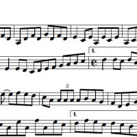 Sheet music for the tune, Manitou cassée